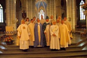 Mikael och prästkollegor 20090614