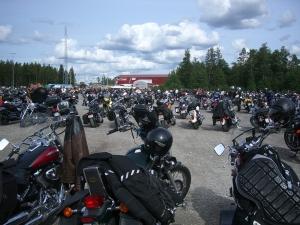 Mälaren runt 2009 MC parkeringen Eskilstuna 2