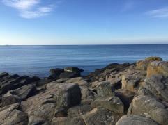 Havet och klippor i Falkenberg sep 2016
